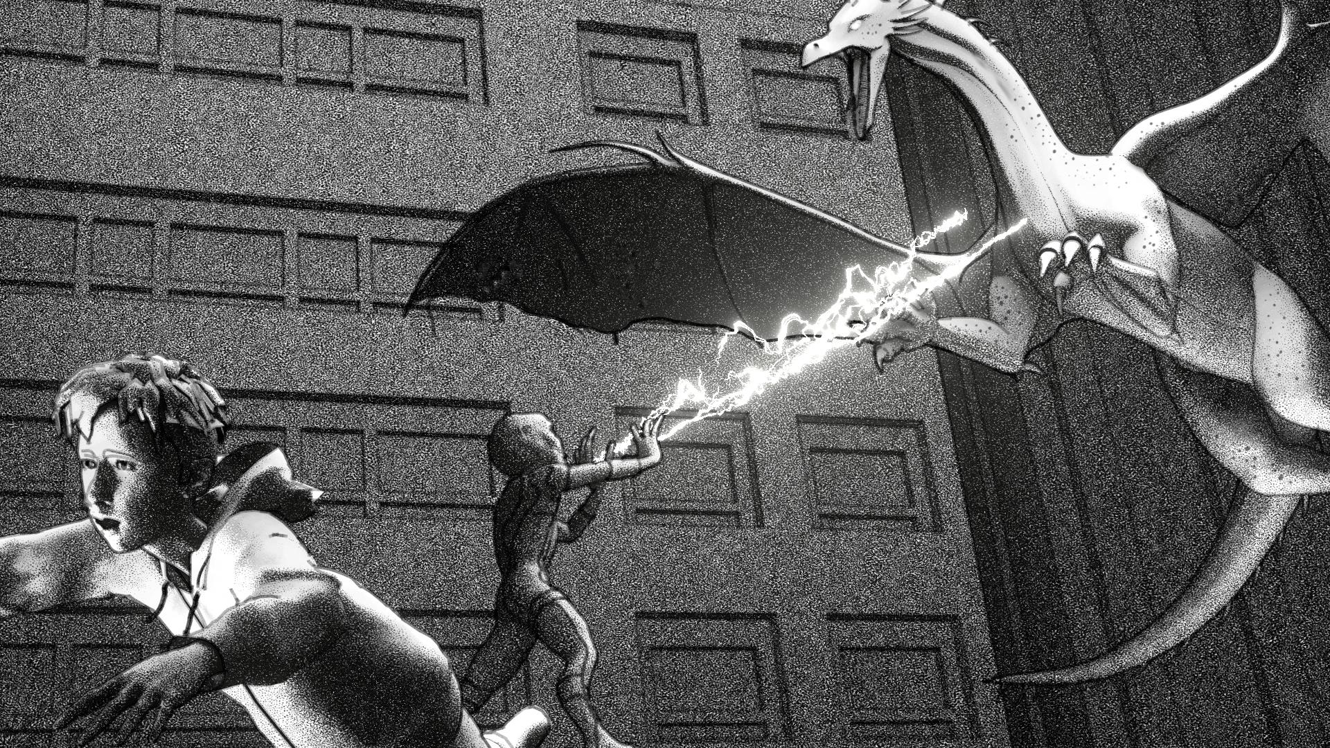 dragon illustration in Dark Swarm